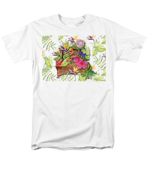 Tropicals In A Basket Men's T-Shirt  (Regular Fit) by Larry Bishop