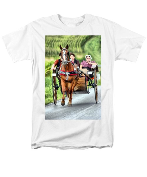 Men's T-Shirt  (Regular Fit) featuring the photograph Trotting Along by Polly Peacock