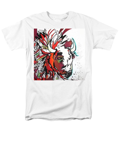 Men's T-Shirt  (Regular Fit) featuring the painting Trouble by Nicole Gaitan