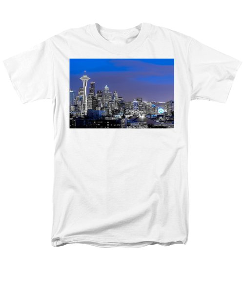 True To The Blue In Seattle Men's T-Shirt  (Regular Fit) by Ken Stanback