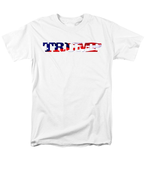 Trump - Fort Mchenry Flag Overlay Men's T-Shirt  (Regular Fit) by William Bartholomew