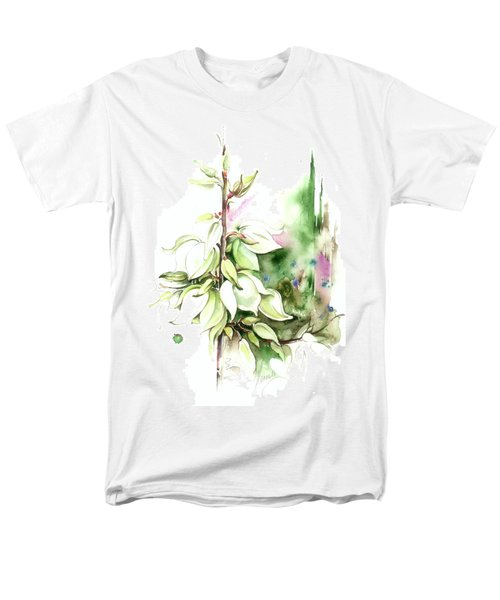 Men's T-Shirt  (Regular Fit) featuring the painting Trying On Wedding Dress by Anna Ewa Miarczynska