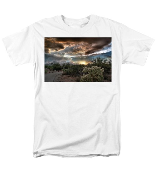 Men's T-Shirt  (Regular Fit) featuring the photograph Tucson Mountain Sunset by Lynn Geoffroy