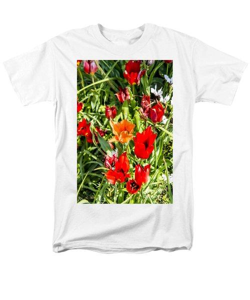 Men's T-Shirt  (Regular Fit) featuring the photograph Tulip - The Orange One 03 by Arik Baltinester