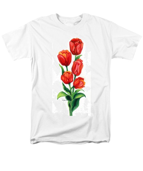 Men's T-Shirt  (Regular Fit) featuring the painting Tulip Time by Barbara Jewell
