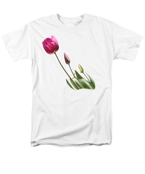 Tulips On Transparent Background Men's T-Shirt  (Regular Fit) by Terri Waters