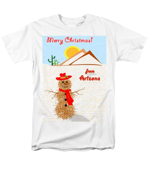 Tumbleweed Snowman Christmas Card Men's T-Shirt  (Regular Fit) by Methune Hively