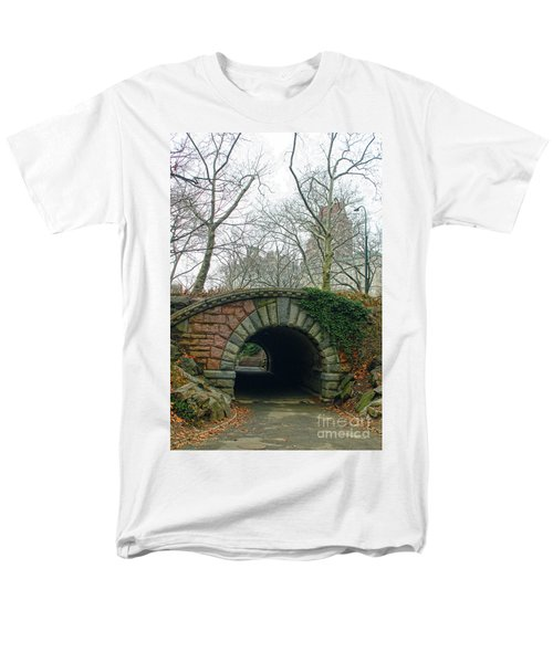Tunnel On Pathway Men's T-Shirt  (Regular Fit) by Sandy Moulder