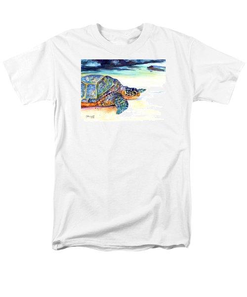 Turtle At Poipu Beach 2 Men's T-Shirt  (Regular Fit) by Marionette Taboniar