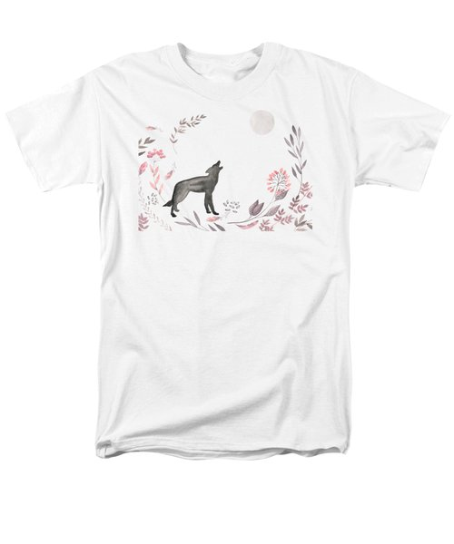 Twilight Wolf Men's T-Shirt  (Regular Fit) by Amanda Lakey