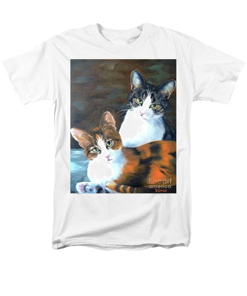 Men's T-Shirt  (Regular Fit) featuring the painting Two Friends by Diane Daigle