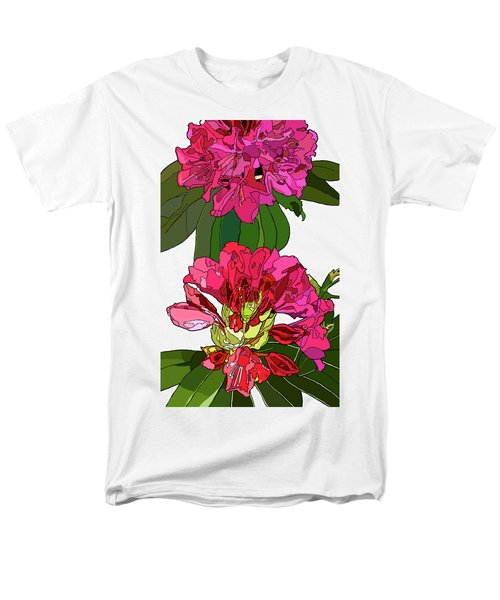 Two Rhododendrons Men's T-Shirt  (Regular Fit) by Jamie Downs