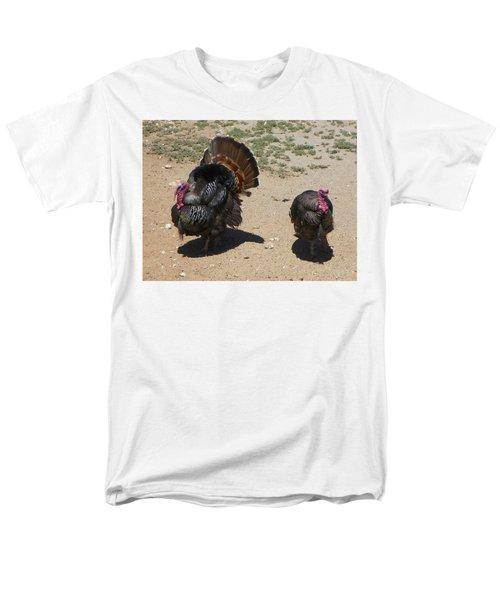 Men's T-Shirt  (Regular Fit) featuring the photograph Two Turkeys by Joseph Frank Baraba