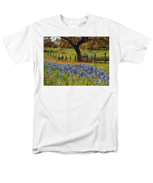 Tx Tradition, Bluebonnets Men's T-Shirt  (Regular Fit) by Lisa Spencer
