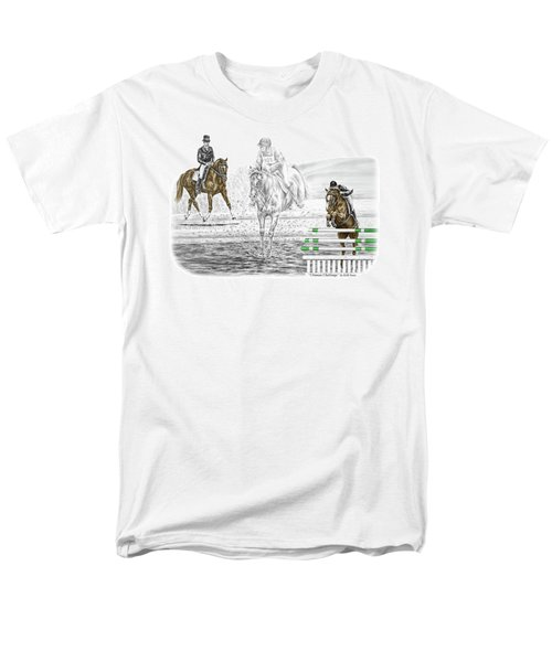 Ultimate Challenge - Horse Eventing Print Color Tinted Men's T-Shirt  (Regular Fit) by Kelli Swan