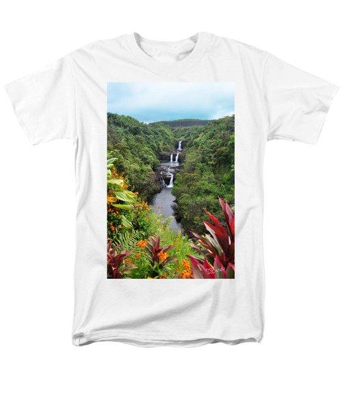 Umauma Falls Men's T-Shirt  (Regular Fit) by Denise Bird