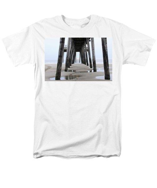 Men's T-Shirt  (Regular Fit) featuring the digital art Under The Pier by Sharon Batdorf