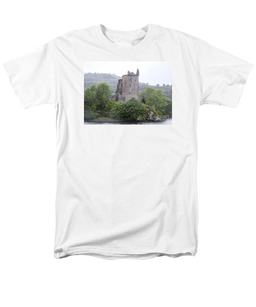 Urquhart Castle - Grant Tower Men's T-Shirt  (Regular Fit) by Amy Fearn