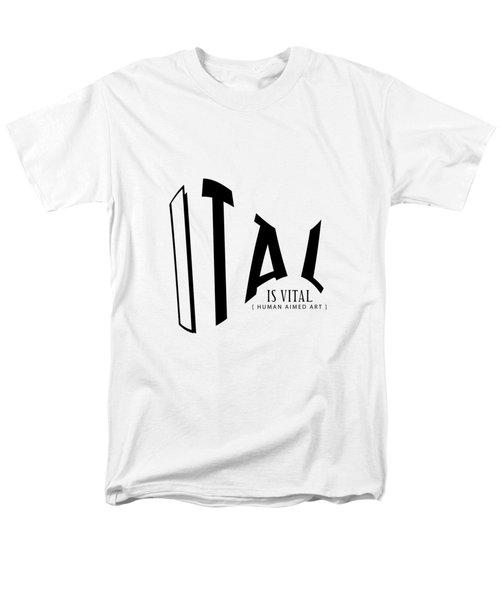 V I T A L . T R I C K S __________ B L A  C K . O N E Men's T-Shirt  (Regular Fit)