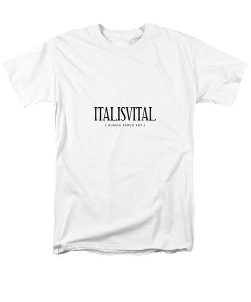 V I T A L . T R I C K S __________ B L A C K . T W O Men's T-Shirt  (Regular Fit)