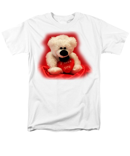 Men's T-Shirt  (Regular Fit) featuring the photograph Valentine Bear by Linda Phelps
