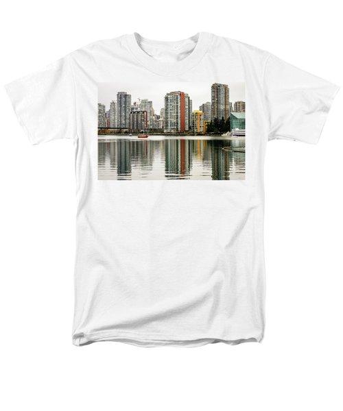 Vancouver Bc Sky Line Men's T-Shirt  (Regular Fit) by Menachem Ganon