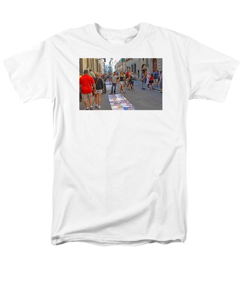 Vendors Selling Reproductions On The Street Men's T-Shirt  (Regular Fit) by Allan Levin