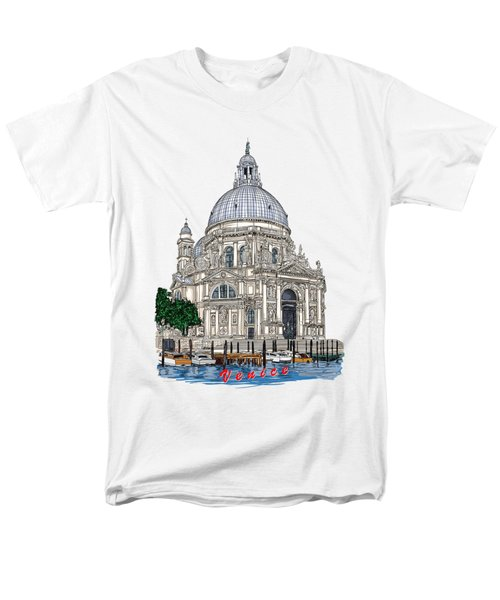 Men's T-Shirt  (Regular Fit) featuring the drawing Venice  by Andrzej Szczerski