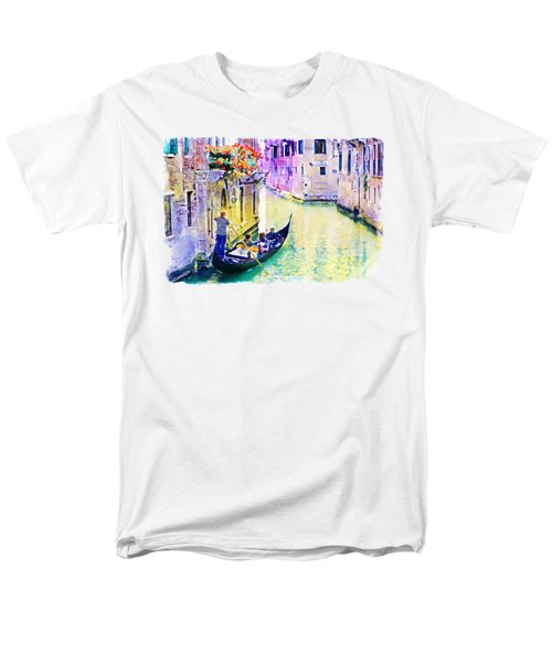 Venice Canal Men's T-Shirt  (Regular Fit) by Marian Voicu