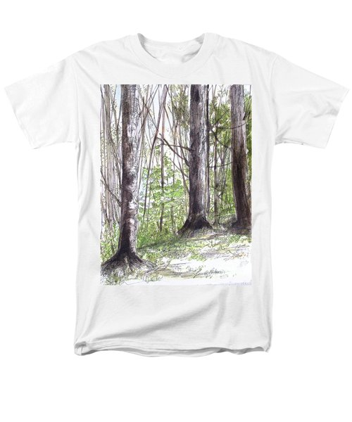 Vermont Woods Men's T-Shirt  (Regular Fit) by Laurie Rohner