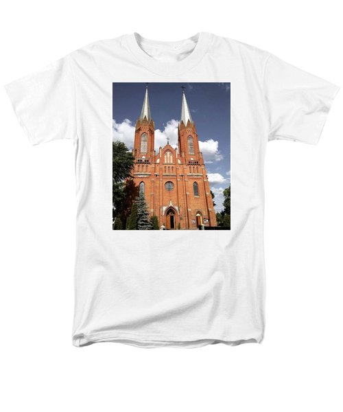 Very Old Church In Odrzywol, Poland Men's T-Shirt  (Regular Fit) by Arletta Cwalina