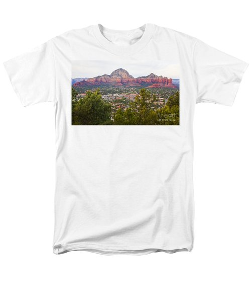 Men's T-Shirt  (Regular Fit) featuring the photograph View Of Sedona From The Airport Mesa by Chris Dutton