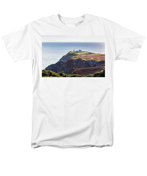 Men's T-Shirt  (Regular Fit) featuring the photograph View Of The Trails On Howth Cliffs And Howth Head In Ireland by Semmick Photo