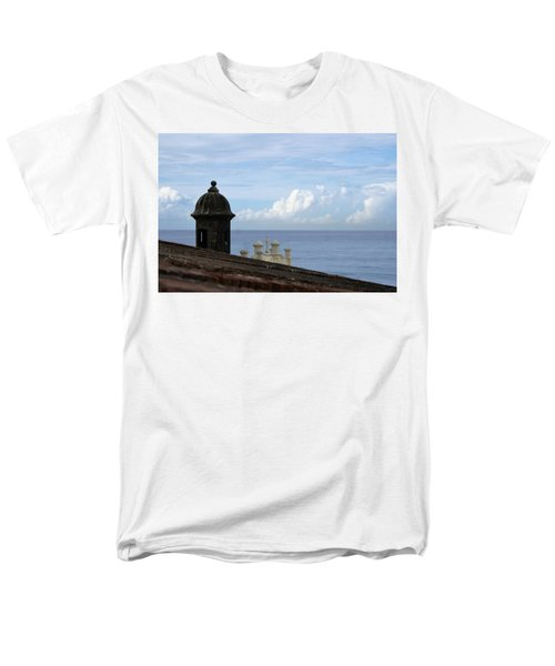 Men's T-Shirt  (Regular Fit) featuring the photograph View To The Sea From El Morro by Lois Lepisto