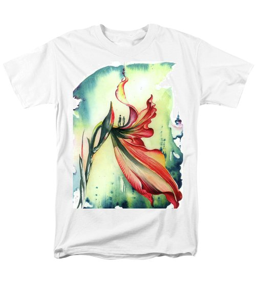 Men's T-Shirt  (Regular Fit) featuring the painting Viewpoint by Anna Ewa Miarczynska