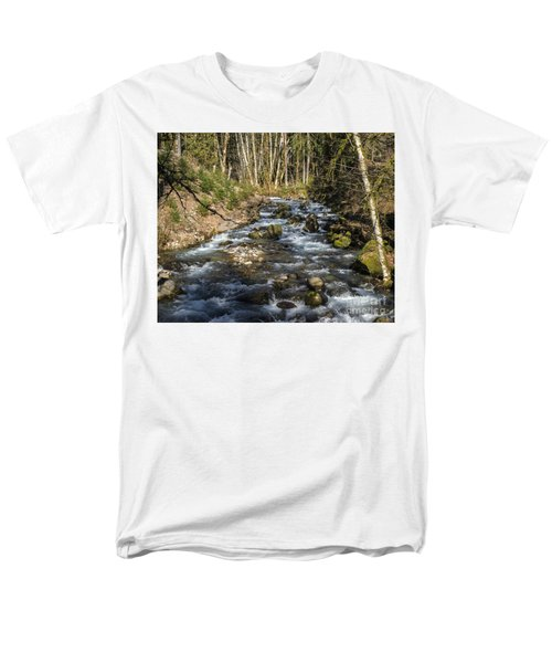 Views Of A Stream, Iv Men's T-Shirt  (Regular Fit) by Chuck Flewelling