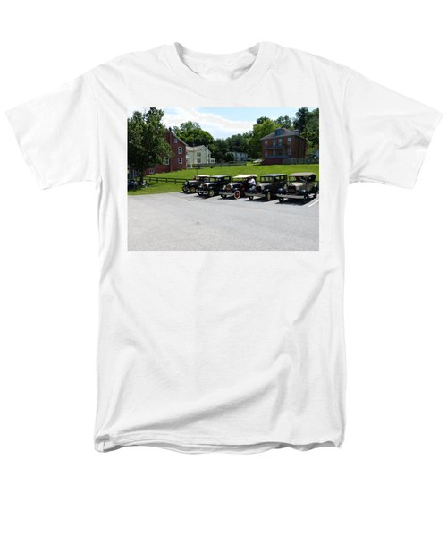 Men's T-Shirt  (Regular Fit) featuring the photograph Vintage Auto Display by Donald C Morgan