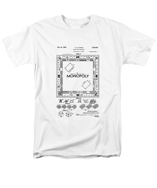 Men's T-Shirt  (Regular Fit) featuring the photograph Vintage Monopoly Patent 1935 by Bill Cannon