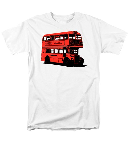 Vintage Red Double Decker London Bus Tee Men's T-Shirt  (Regular Fit) by Edward Fielding
