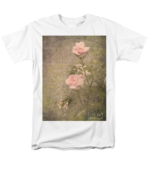 Vintage Rose Poster Men's T-Shirt  (Regular Fit) by Liz  Alderdice