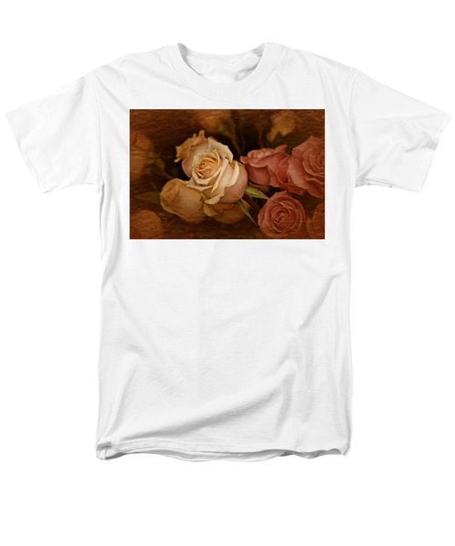 Men's T-Shirt  (Regular Fit) featuring the photograph Vintage Roses March 2017 by Richard Cummings