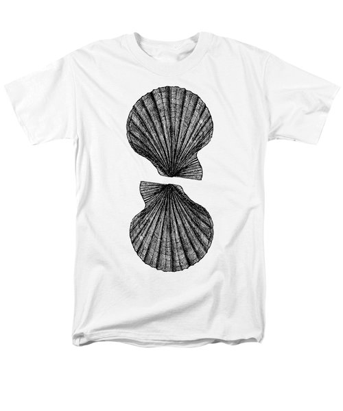 Men's T-Shirt  (Regular Fit) featuring the photograph Vintage Scallop Shells by Edward Fielding