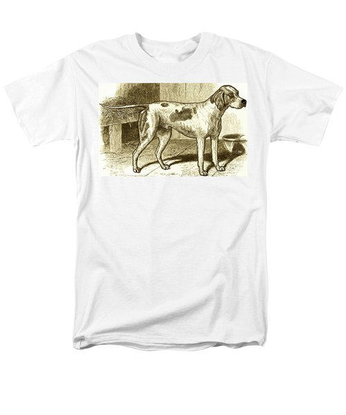 Vintage Sepia German Shorthaired Pointer Men's T-Shirt  (Regular Fit) by Marian Cates