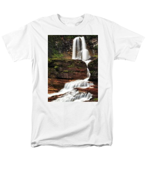 Virginia Falls Glacier National Park Men's T-Shirt  (Regular Fit) by John Vose