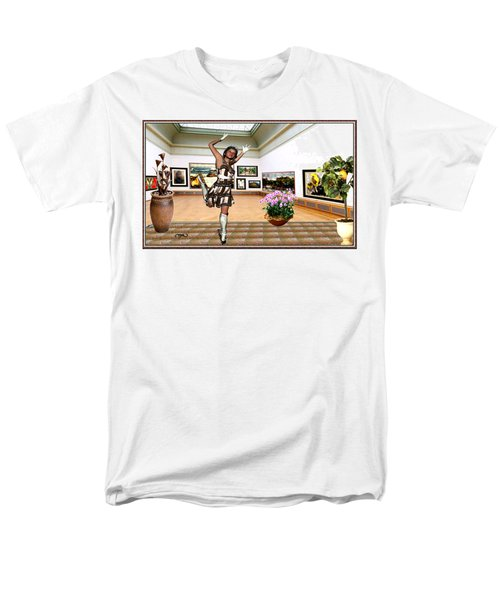 Virtual Exhibition - A Girl With A Pairro Dress Men's T-Shirt  (Regular Fit) by Danail Tsonev