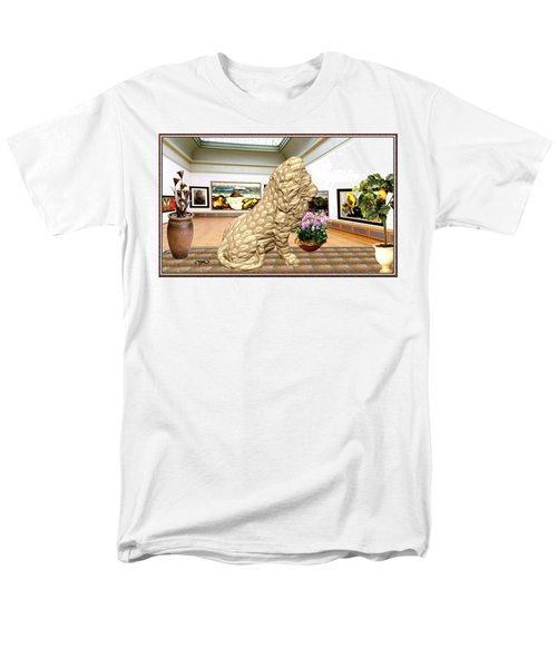Virtual Exhibition - Statue Of A Lion Men's T-Shirt  (Regular Fit) by Pemaro