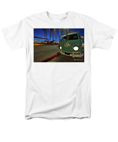 Volkswagen Bus At The Imperial Beach Pier Men's T-Shirt  (Regular Fit) by Sam Antonio Photography