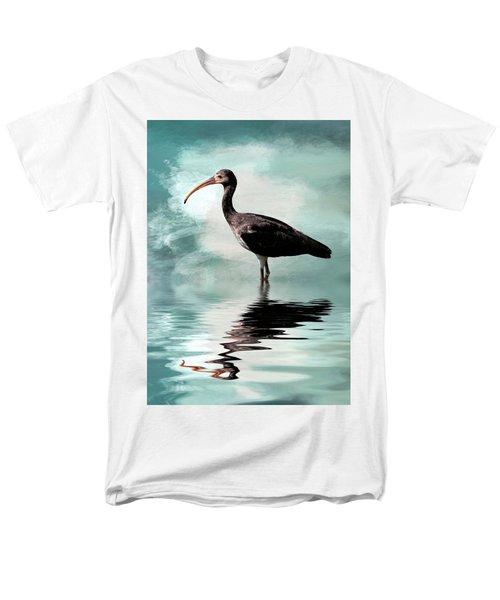 Wading Ibis Men's T-Shirt  (Regular Fit) by Cyndy Doty