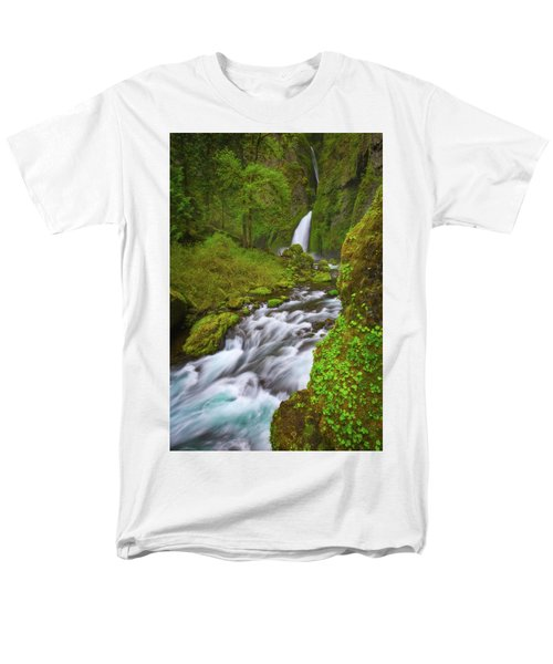 Men's T-Shirt  (Regular Fit) featuring the photograph Wahclella Falls by Darren White