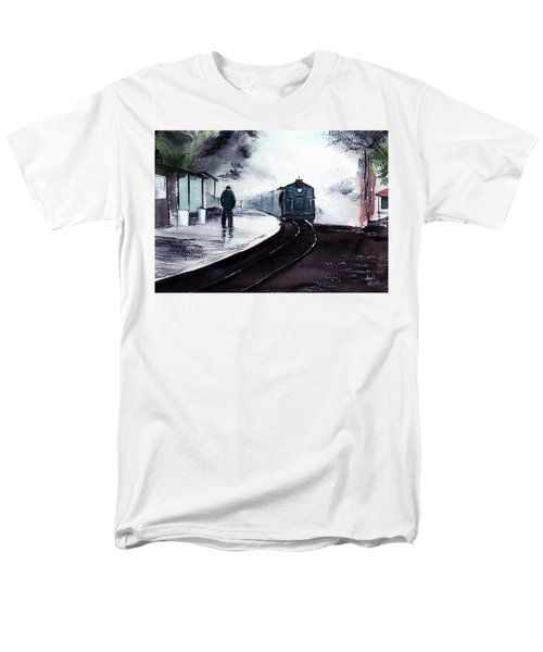 Men's T-Shirt  (Regular Fit) featuring the painting Waiting by Anil Nene